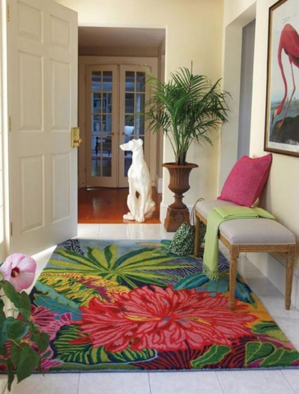 tropical inspired decor