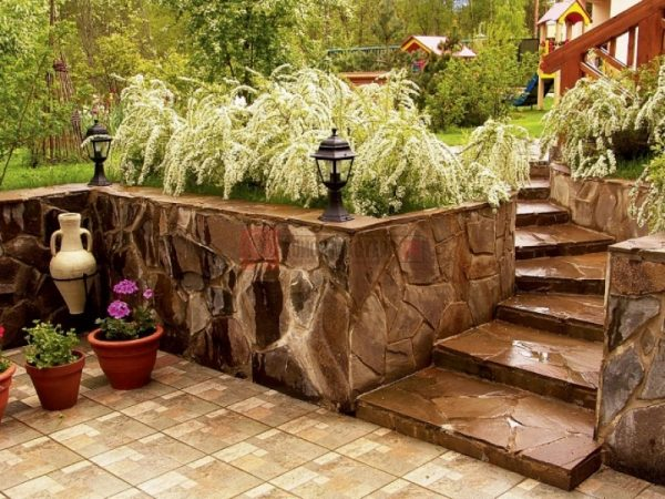rock retaining wall design