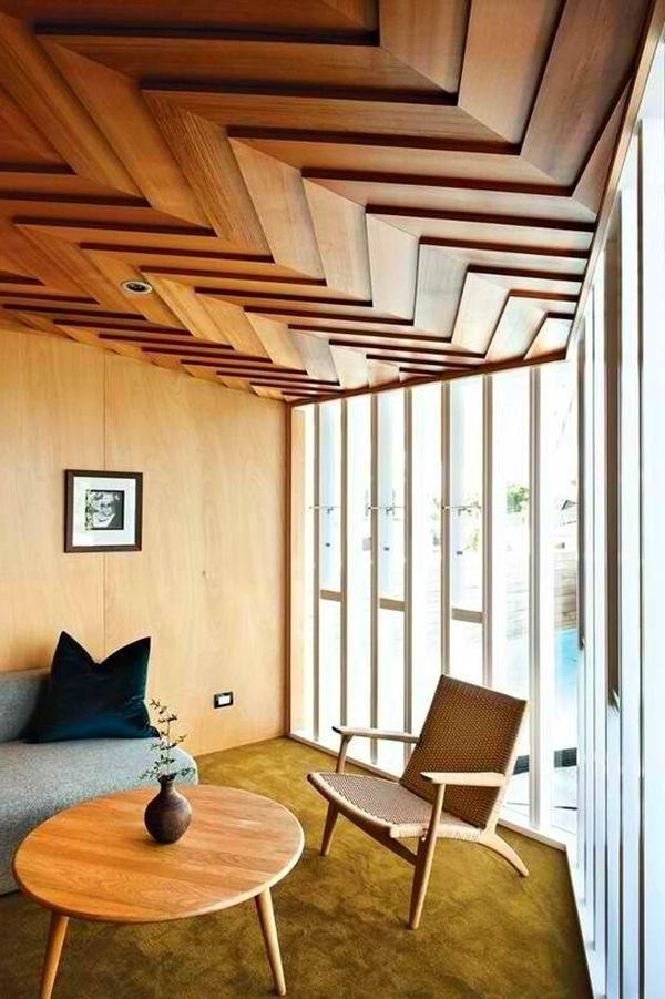 modern wooden ceiling design
