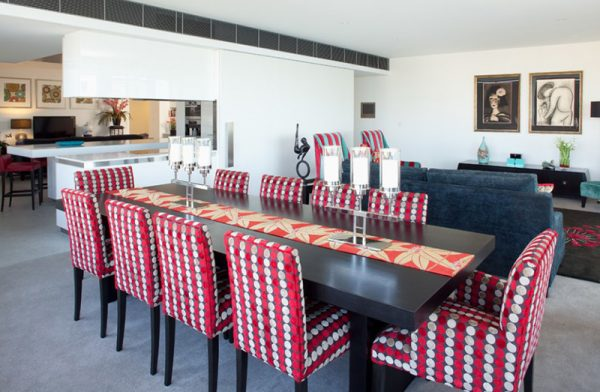 printed fabric dining chairs