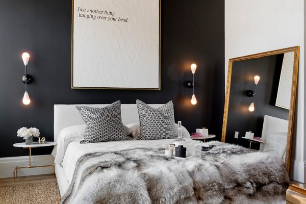 Black accent walls in bedrooms
