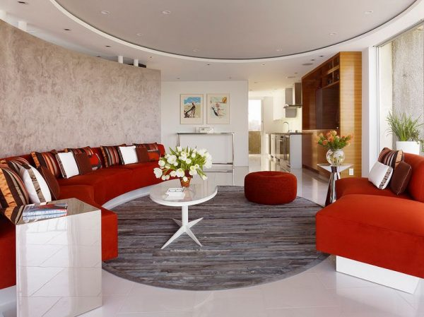 curved settees and sofas