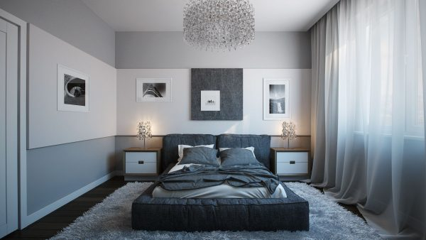 Gray bedroom design