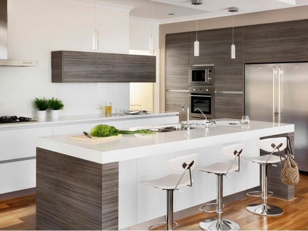 kitchen with white countertop