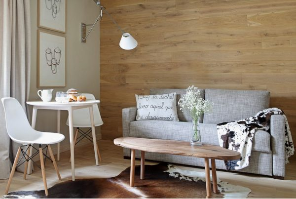 white and wood interior design