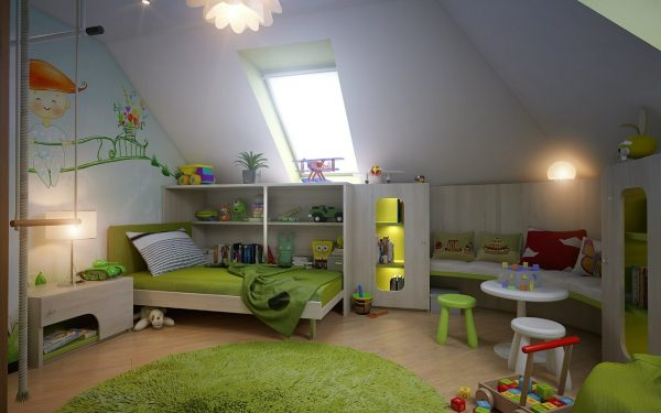 10 Inspirational attic kids room