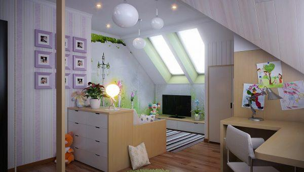 attic kids room