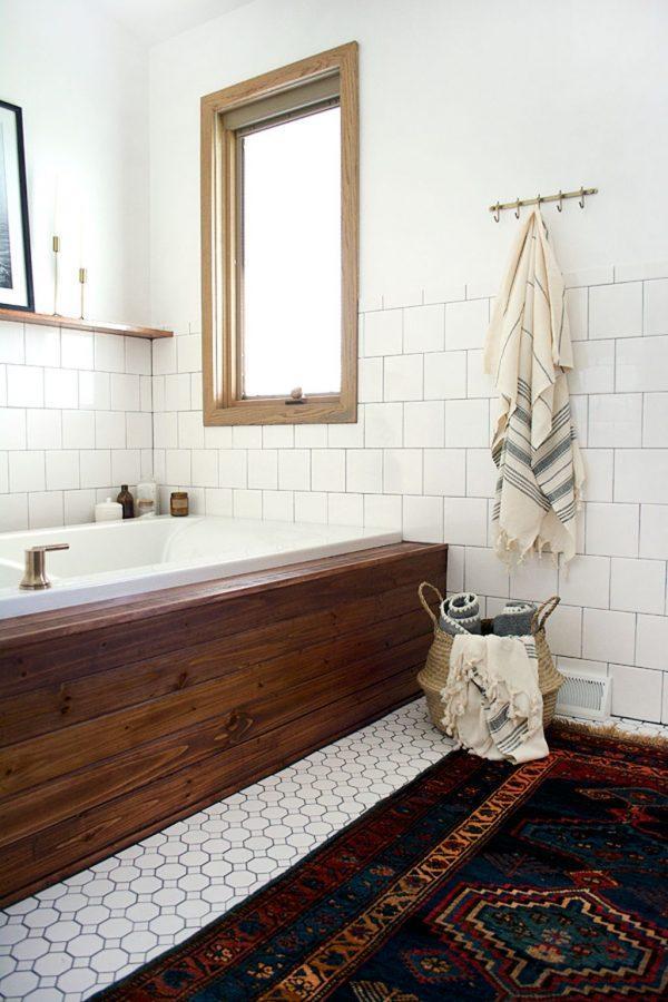 bathtub wood panel cover