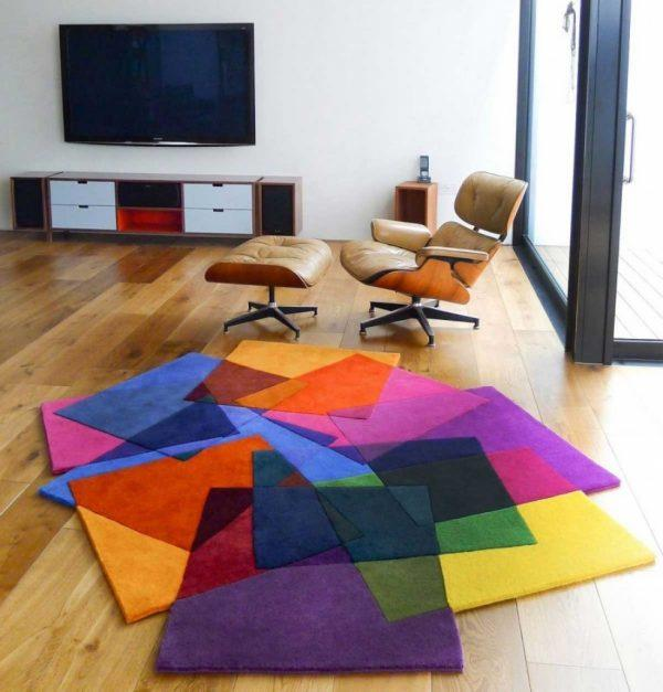 modern colorful rugs