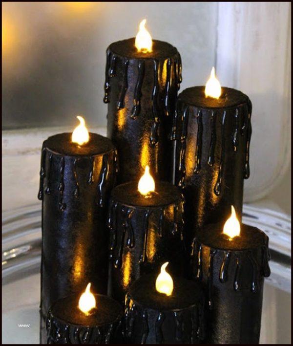 black tea light holders