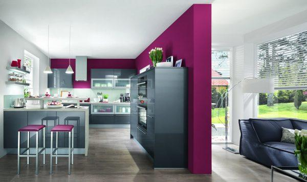 grey gloss kitchen