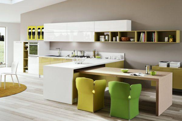glossy kitchen cabinets
