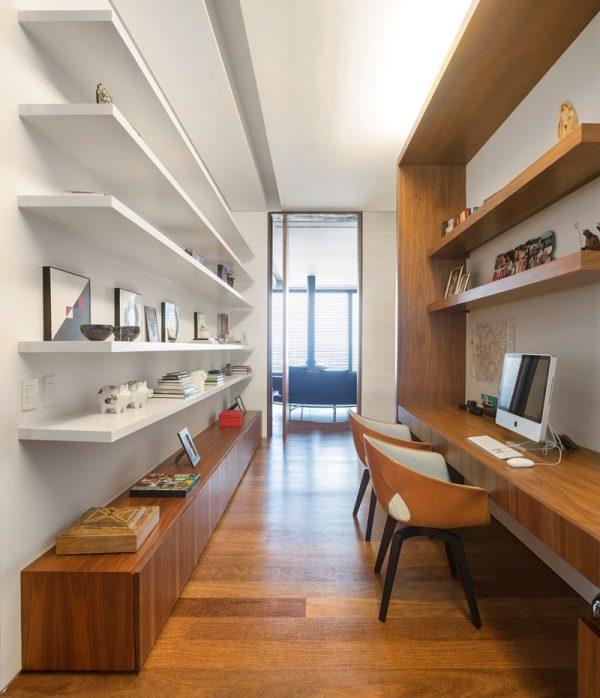 minimalist wood desk