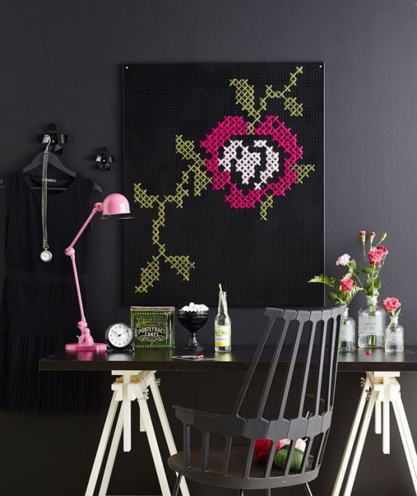 Cross stitch decor