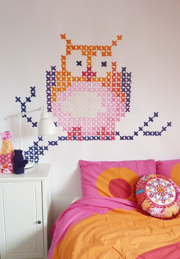 cross stitch wall art