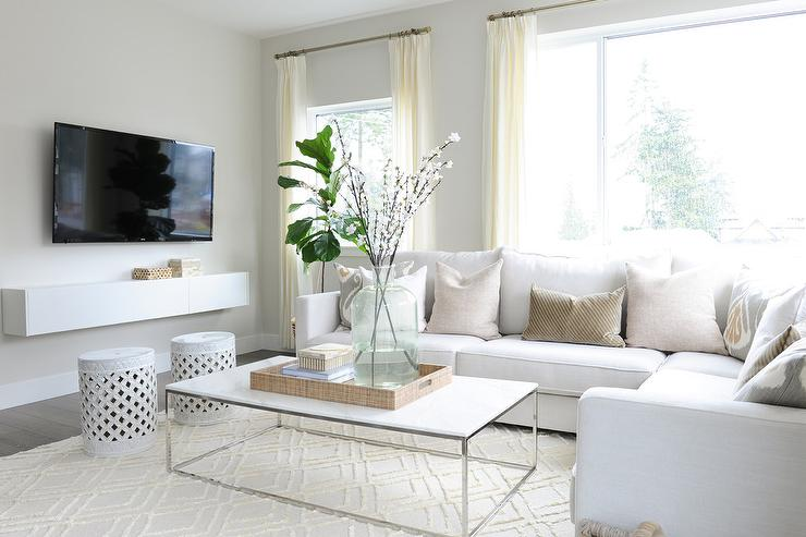 floating console white