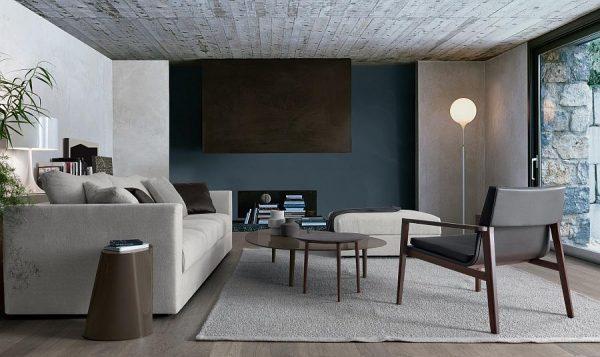 grey sofa decor