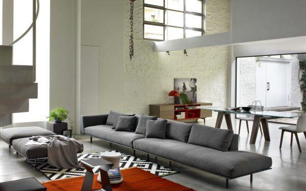 grey sofa living room decor
