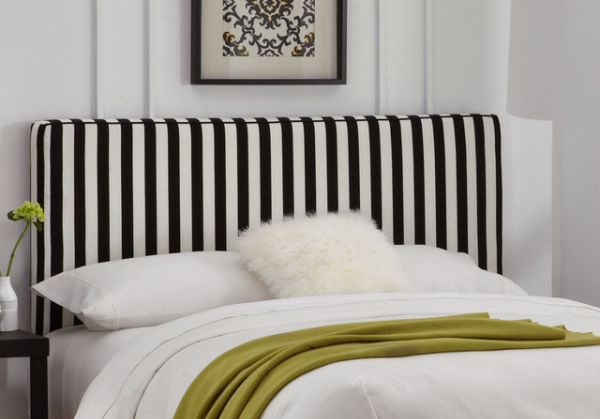 black and white striped decor