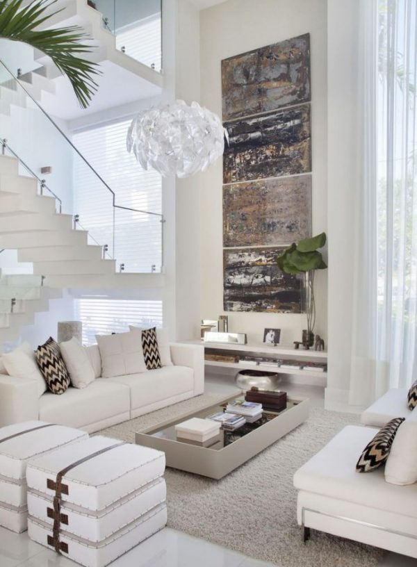 White living room decor ideas