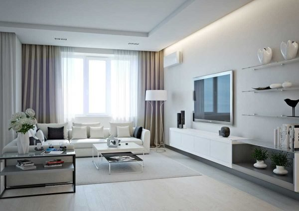 modern white living room furniture