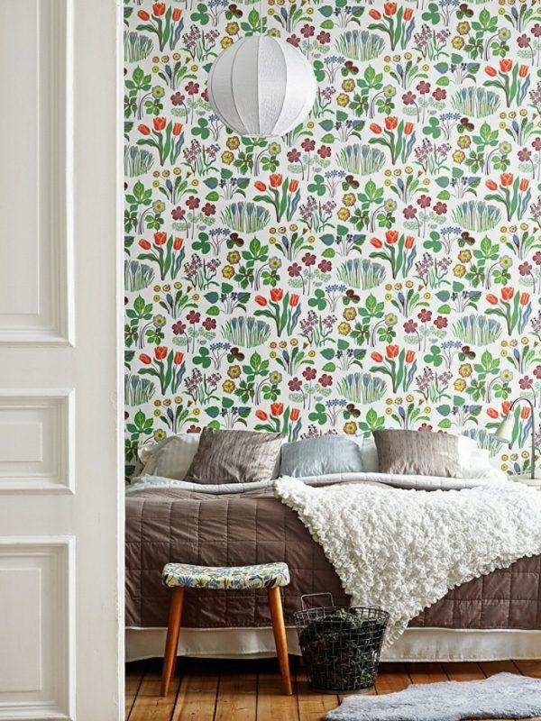 botanical themed bedroom