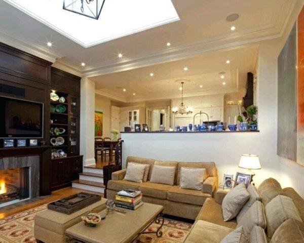 half wall ideas living room