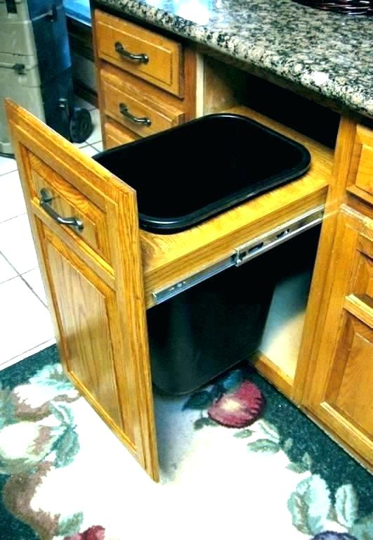 under sink trash can