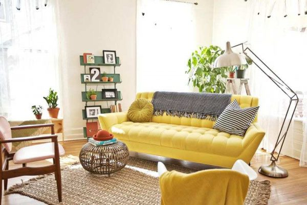 yellow sofa living room ideas