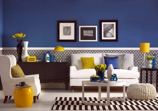 yellow room decor