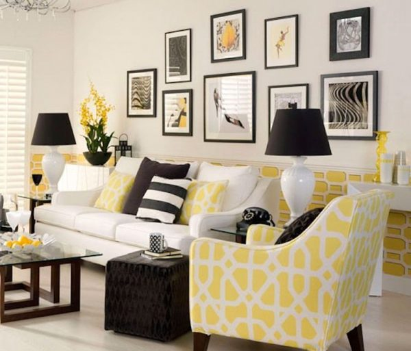 yellow accent furniture