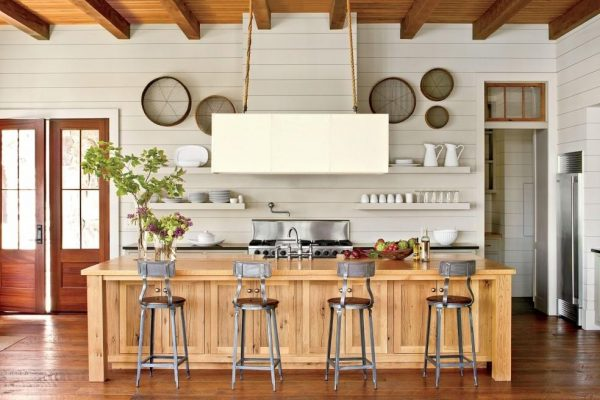 shiplap kitchen wall
