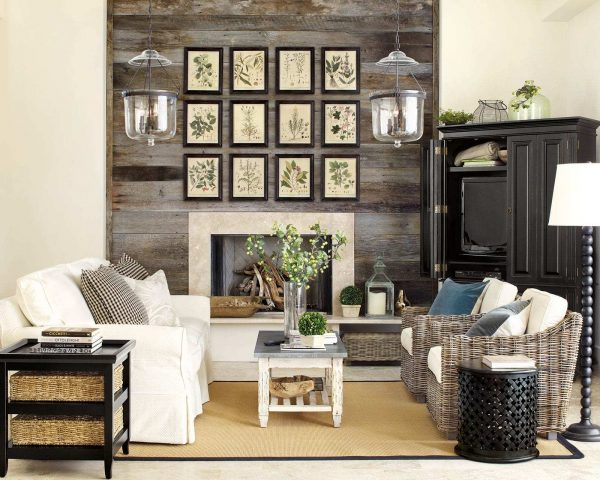 dark wood living room furniture