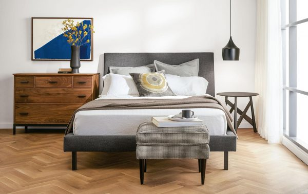 how to mix and match wood furniture in bedroom