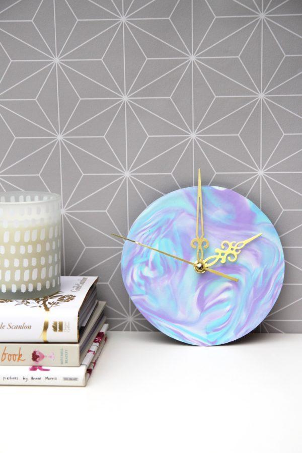 polymer clay clock