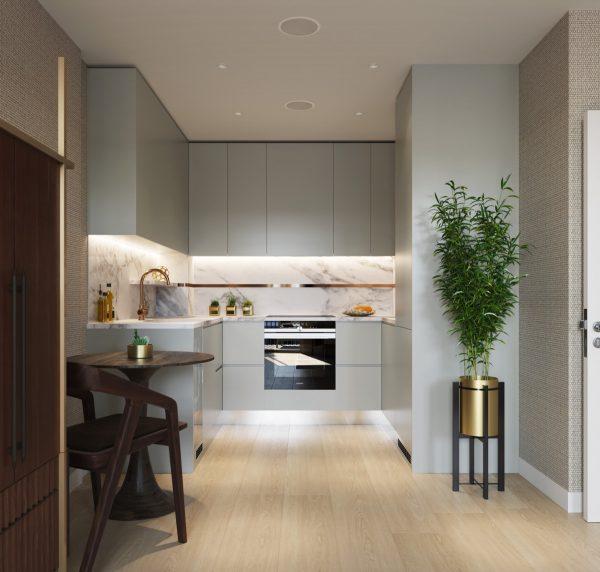 small u shaped kitchen designs