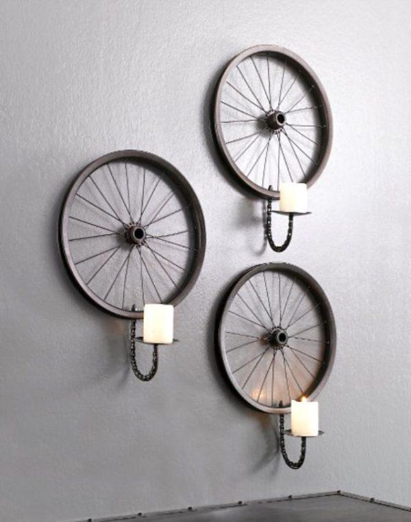 bicycle wheel light fixture