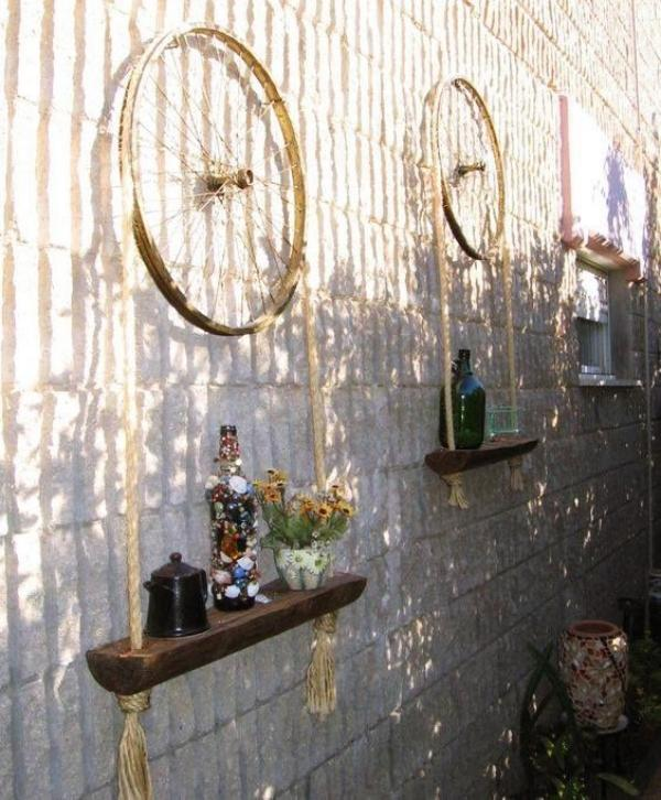 10 Creative decor ideas with recycled wheels