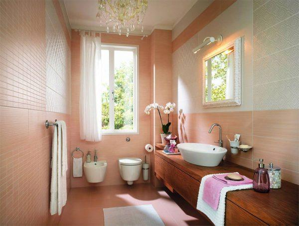 peach bathroom ideas