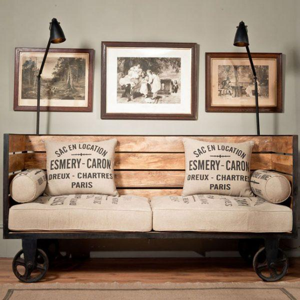 industrial style sofa
