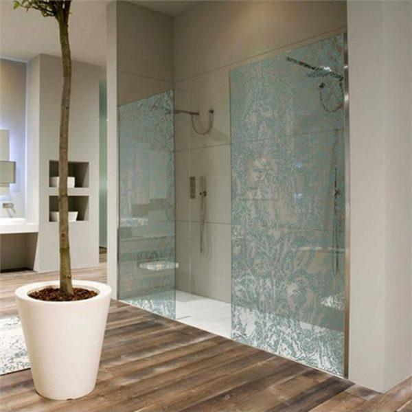patterned shower doors