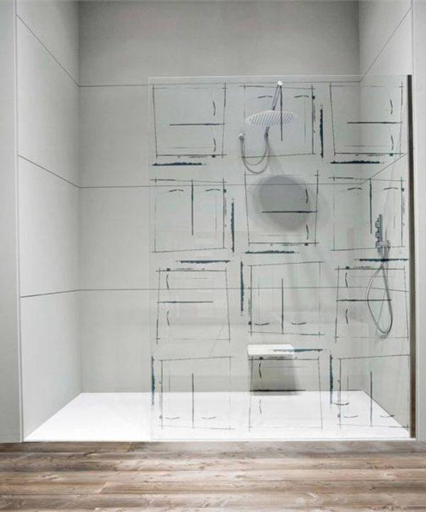 decorative glass shower doors