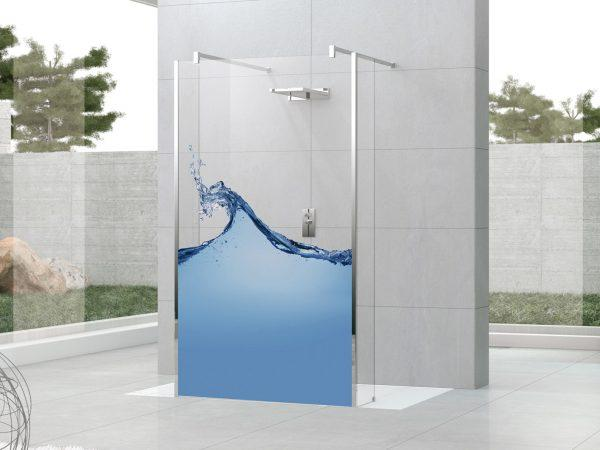 decorative glass shower panels