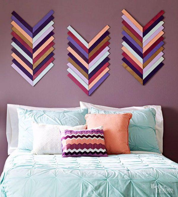 homemade wall decoration ideas for bedroom