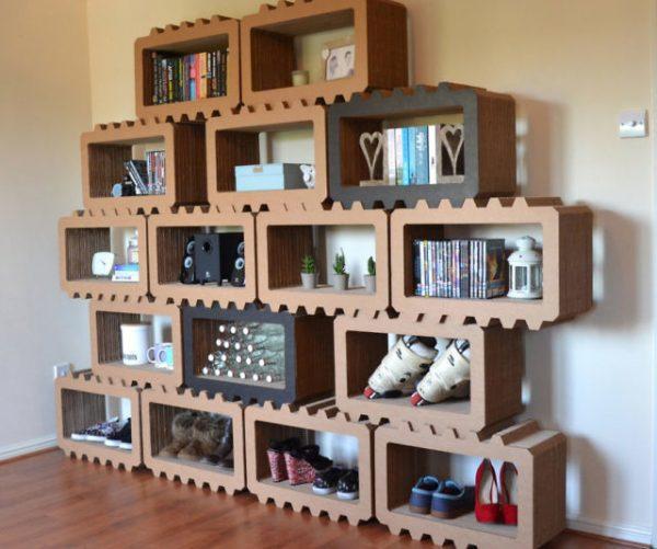 modular wooden shelving