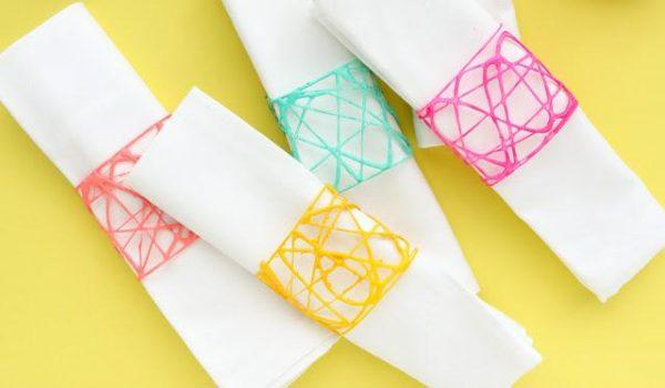 diy napkin ring ideas