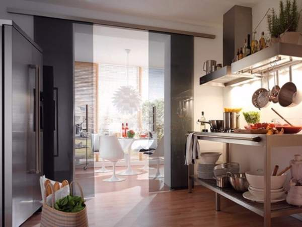 sliding door for kitchen entrance