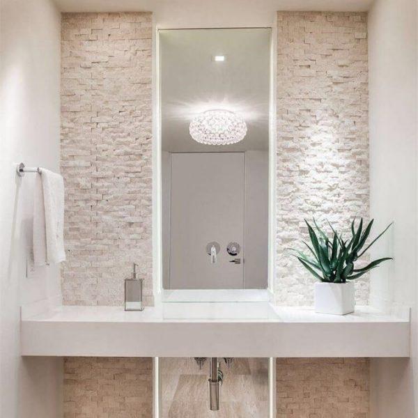 simple bathroom mirror