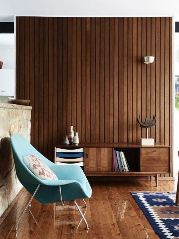 mid century modern paneling