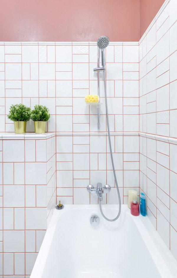 grout colors with white tile